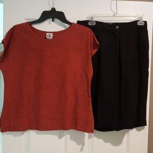 Linen High Waist Shorts Outfit